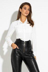 Белая рубашка с длинным рукавом Айна 21249