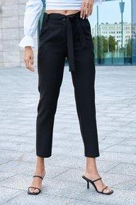 Черные зауженные брюки из костюмной ткани Лорри 4251