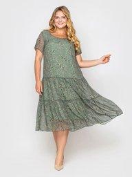 Платье Катаисс оливка 119335