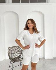 Пижама велюр футболка+шорты молоко 018_290188