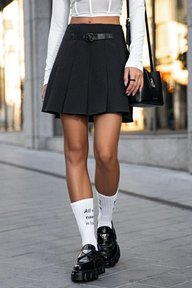 Юбка-мини черного цвета Валентина 6184