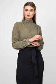 Шифоновая блуза с длинным рукавом цвета хаки Лиллиан 21217 () 21219