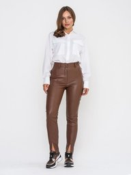 Кожаные брюки Теренс (коричневый)