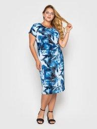 Платье Белла голубое акварель 120417