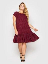 Платье Яна бордо завитки 115480