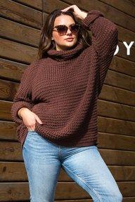 Теплый вязаный свитер-туника