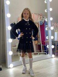 купить детскую юбку с кружевом
