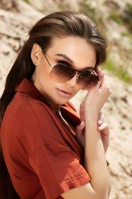Солнцезащитные очки с двухцветными линзами 1375.4135